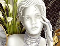 Photo-Realistic Illustration of Jewelry Mannequin