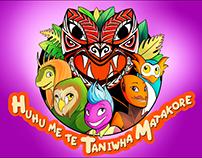 Huhu me te Taniwha Matakore - Characters & Animations