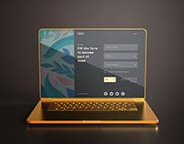 Free High Quality Golding Laptop Mockup