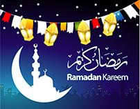 Vector Ramadan Kareen Beautiful Greeting Card