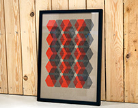 Hexagon Pattern Artprint