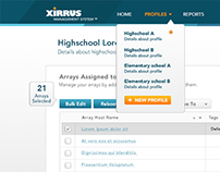 Xirrus Software for Macadamian UX, UI, Visual Design