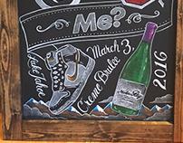 Chalk Art for Wedding Proposal