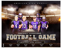 Football sports photography template