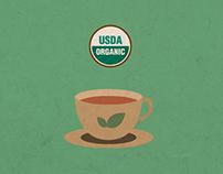 Tea Infographics - Organic vs Non-Organic