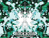 Rock CD cover with Rorschach theme