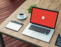 Free Laptop Screen Mockup PSD