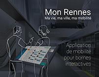 [ Design d'interface ] - Borne Mon Rennes - Métromix