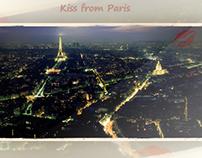 Kiss from Paris | Vectoriel Project