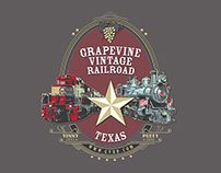 Grapevine Vintage Railroad Shirt Design