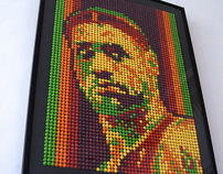 Lebron James made of Skittles