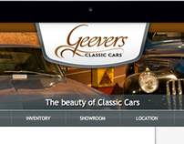 Geevers Classic Cars - Website