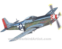 NORTH AMERICAN P51 MUSTANG colored pencil