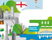 GENOVA - Maps Illustration