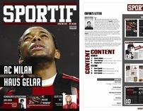 Sports Magazine Design Layout