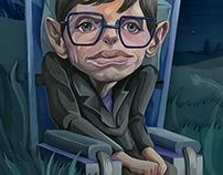 Stephen Hawking's caricature