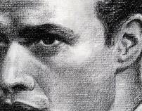 Marlon Brando in Charcoal