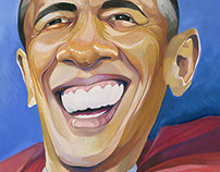 "Obama caricature; ""Super Obama"""