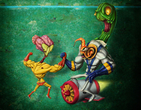 earthworm Jim & unstoppable creature