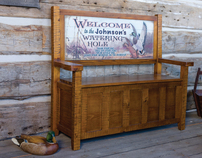 Personalized Vintage Sign Furniture