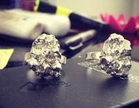 Quartz silver Rings