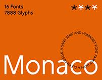 SK Monaco Typeface