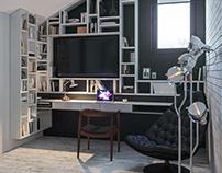 Cozy Loft for men. Bedroom.(2017)
