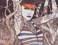 Summer Skin : Fashion illustration for ELLE Indonesia