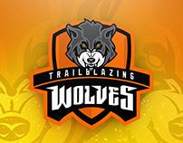 Trailblazing Wolves - team logo design