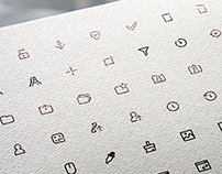 184 simple line icons for COSMONOVA.NET