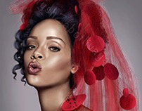Digital art (portrait) Rihanna