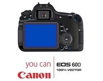canon 60D 100% vector
