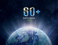 Earth Hour media banner concept