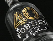 The FORTIES. Label design. Vodka.