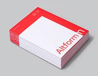 Altform Typeface and Specimen Book
