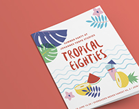 Tropical Eighties: Party Invitation