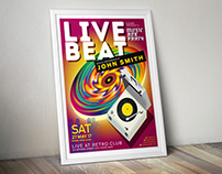 "Adobe Poster Contribution ""LIVEBEAT"""