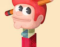 The Creative Pain - PEZ boy