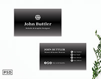 Free Black Gradient Business Card Template