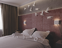 Bedroom with birds