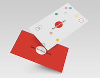 Free Falling Business Card Mockup PSD Template