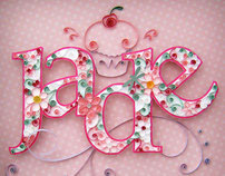 Quilling Letters for Keepsake