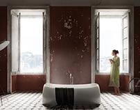 CGI & Photography // red bath