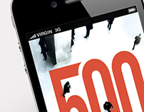 The 500 mobile web app
