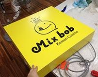 mixbob & bibimbap acrylic sign
