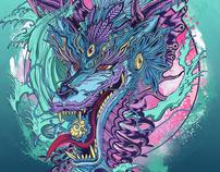 Pray for Japan 311- Aqua Dragon
