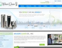 Wilson Glass Website Design