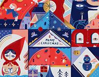 Red & Wolfie Christmas Gift Box