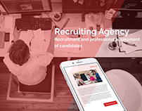 Design for web site Recruiting agency