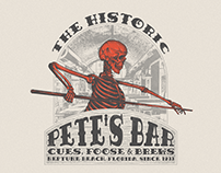 Vintage Illustration for Historic Bar